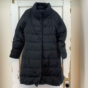 Kate Spade Black Down Jacket with Crystal Buttons